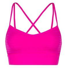 Lorna Jane Juliet Bra ($66) ❤ liked on Polyvore featuring activewear, sports bras, crop top, pink, women, pink sports bra, lorna jane sportswear, strappy sports bra, neon sports bra and neon activewear