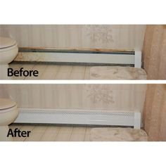 Home depot NeatHeat, 4 ft. Hot Water Hydronic Baseboard Cover (Not for Electric Baseboard), at The Home Depot - Mobile Bathroom Baseboard, Baseboard Radiator, Baseboard Heater Covers, Baseboard Heating, Hydronic Baseboard Heaters, Baseboard Ideas, Bathroom Heater, Radiator Heater Covers, Diy Radiator Cover