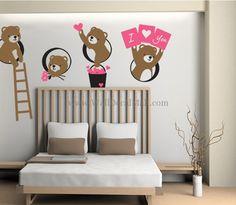 Bear Friend I Love You Wall Decals – WallDecalMall.com