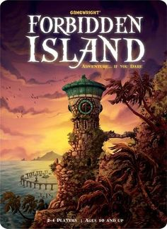 Dare to discover Forbidden Island! Join a team of fearless adventurers on a do-or-die mission to capture four sacred treasures from the ruin Family Game Night, Family Games, Sink In Island, Mighty Girl, Do Or Die, Cooperative Games, Thing 1, Adult Games, Board Games