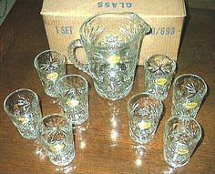 Early America Prescut, Glassware Replacements by Anchor Hocking Glass