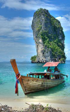 Koh Poda, Ao Nang, Thailand - Boat tour to Koh Poda, Krabi, Thailand. See tons more @ http://www.onefortheroadphoto.com/