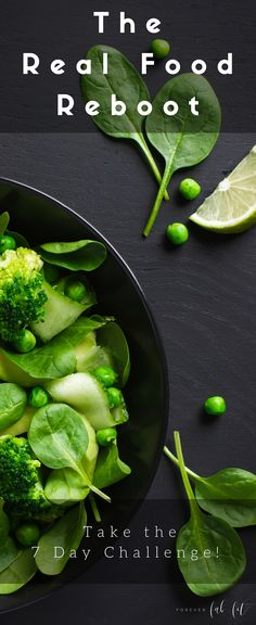 Eating healthy doesn't have to be hard. You don't have to eliminate foods & feel deprived. Take the free 7-Day Real Food Reboot Challenge! You're at new age, wiser and want a fresh start. Real food for a more energized you! You'll receive healthy real food actionable tips including a menu plan, grocery shopping list & access to a private FB group to keep you motivated! Click through to sign up for the challenge!