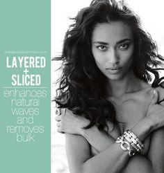 layered and sliced wavy hair via the beauty department Best layered cuts for wavy, curly, and coiled hair.