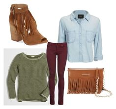"""""""Fringe Benefits"""" by xoxo-bng on Polyvore featuring J.Crew, Rails, 8, Chinese Laundry and Rebecca Minkoff"""
