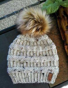 Knit Chaotic Bun Hat Pattern Knit Beanie Pattern Chaotis … - Knitting New Motifs Beanie, Knit Beanie Pattern, Crochet Beanie, Knitted Hats, Knit Crochet, Crochet Hats, Messy Bun Knitted Hat, Ponytail Hat Knitting Pattern, How To Start Knitting