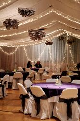 Wedding reception in a churchs gym white fabrics christmas if i am in a church gym for the reception this is what i hope junglespirit Image collections