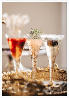 Cute colorful cocktails #wedding #inspiration #details #drinks #winter #cocktails