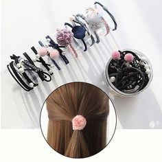 Artificial Leather Bow Knot Elastic Hairband Red Gold Green Black Brown Mini Ponytail Hair Rope Faux Leather Hair Ring Sophisticated Technologies Accessories Mother & Kids