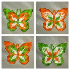 Set of 4 Butterflies Refrigerator Magnets by YolandasCanvas