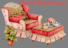 Good Morning coffee chair comfy cozy good morning good morning greeting good morning gif