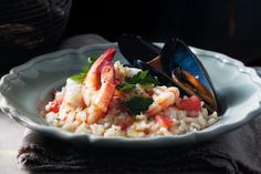 Transport yourself to the shores of the Adriatic Sea with this risotto dish brimming with fresh prawns and mussels.