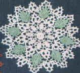 Free crochet patterns for doilies and hundreds of other patterns at Craftown. This pattern is for a green leaf doily. Crochet Dollies, Crochet Wool, Crochet Doily Patterns, Thread Crochet, Crochet Motif, Free Crochet, Doily Art, Yarn Needle, Learn To Crochet