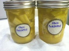 Faux Pineapple - Yes its made with Zucchini!