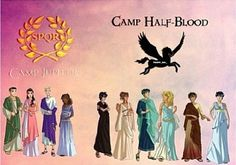 Camp Half-Blood and Camp Jupiter ancient Roman/Greek style