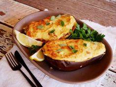 Moussaka made easy. The best way to eat eggplant ever! Greek Recipes, Veggie Recipes, Moussaka, Grated Cheese, Tray Bakes, Baked Potato, Stuffed Eggplant, Mashed Potatoes, Make It Simple