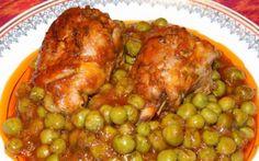 Retete Culinare - Mancare de mazare cu ciocanele Romanian Food, Romanian Recipes, Cooking Recipes, Healthy Recipes, Tandoori Chicken, Carne, Crockpot, Chicken Recipes, Dinner Recipes