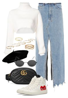 """""""Untitled #2541"""" by annielizjung ❤ liked on Polyvore featuring Ksubi, Alexandre Vauthier, Gucci, Converse, Isabel Marant, Sterling Forever and Anissa Kermiche"""