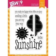 Ellen Hutson LLC - WPlus9 Design Studio Clear Stamps, Sending Sunshine, $6.00 (https://www.ellenhutson.com/wplus9-design-studio-clear-stamps-sending-sunshine/)
