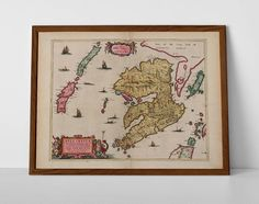 Old map of Isle of Mull, originally created by Willem Janszoon Blaeu, now available as a 'museum quality' classic decoration print.  #Bunessan #Calgary #Craignure #Dervaig #homedecor #Fionnphort #travelposter #interiordesign #hahnemuhle #isleofmull #Kintyre #Lochbuie #oldmap #mull #mull #Salen #Tobermory #vintagechartmull