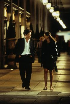 Julia Roberts and Hugh Grant in Notting Hill 1999.