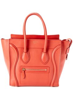 Spotted this CELINE Red Calfskin Micro Luggage Tote on Rue La La. Shop (quickly!).