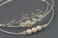 the Story of the Ocean silver Bangle bracelet set