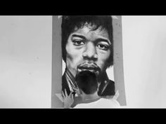 Speed drawing - Two handed Jimi Hendrix charcoal drawing