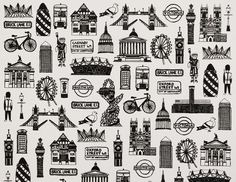 Iconic London images drawn in a unique fine-line style, make this A3 print an unusual and contemporary memento of the City. With over 25 original fine-line illustrations of famous London icons, this high quality print is sure to be a success with Londoners, visitors and tourists. With landmarks such as Big Ben, St Paul's and the London Eye; busses, bikes, street signs; policemen and Beefeaters, all represented, spotting favourites and remembering what's there is part of the enjoyment. The...