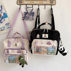 Vintage Backpacks, Cute Backpacks, Crossbody Shoulder Bag, Crossbody Bag, Pastel Backpack, Aesthetic Bags, Kawaii Bags, Cute Wallets, Kids Bags