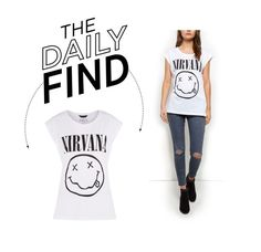 """Daily Find: New Look Nirvana T-Shirt"" by polyvore-editorial ❤ liked on Polyvore featuring DailyFind"
