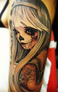 Tattoo Artist - Daniel Rocha - woman tattoo | www.worldtattoogallery.com