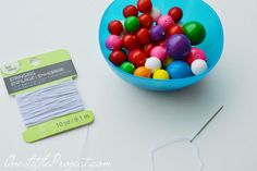 DIY Edible Gumball Necklace. Kids would love these! So neat that they look like real beads!