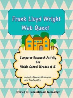 This short computer research WebQuest/Scavenger Hunt is a fun activity to lead into a variety of units in Technology, CTE, Architecture, Art or History. It is also a great quick activity to fill a day prior to starting a new lesson or to use with a substitute teacher.  The lesson includes student handouts, teacher resources, and a grading key for the teacher. This lesson was created for middle school, but would work well with upper elementary or early high school also.