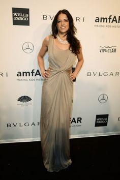 Michelle Rodriguez wearing @albertaferretti – amfAR New York Gala #2014