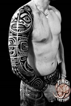Polynesian Arm Tattoo Design