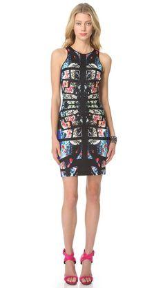 Clover Canyon Aquarium Puzzle Pencil Dress; PRINTED DRESSES ARE HOT, HOT, HOT FOR SPRING!!!