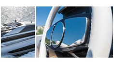 Riva Mythos - Sun Deck From Above and Flybridge Wheel