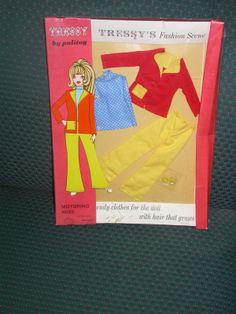 Palitoy Tressy Doll Motoring Miss Fashion Set No 30258 Empire Made | eBay