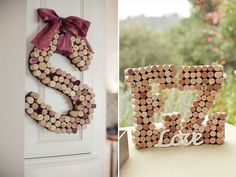 wedding initials made from wine corks - 10 decorating ideas with wedding initials