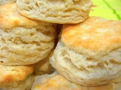 I made these biscuits and they are awesome! Make sure you knead the dough to make them rise really high.