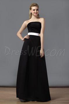 Dresswe.com SUPPLIES Elegant A-Line Ruched Square Neckline Floor-Length Chiffion Bridesmaid Dress Bridesmaid Dresses 2014