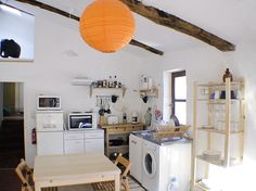 Le Coulet - a holiday rental apartment in southern France. This is a view of the kitchen.