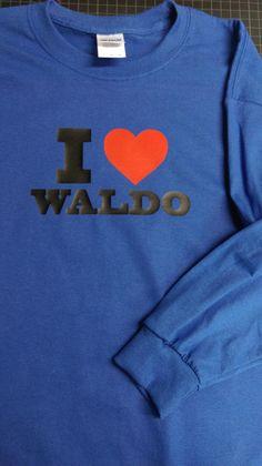 Custom I heart Waldo tee!! #iheartwaldo #waldotee #TShirtTime