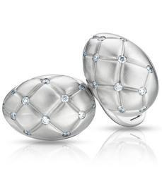 Fabergé Treillage Cufflinks Diamond 18ct White Gold Matt
