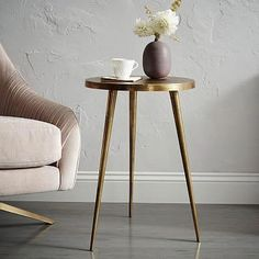 Available in a premium quality, West elm provides the exceptional Cast Tripod Side Table. Buy now Cast Tripod Side Table at the best price with available delivery to Jeddah, Riyadh, and all areas around KSA Rustic Side Table, White Side Tables, West Elm Side Table, Copper Side Table, Furniture Decor, Living Room Furniture, Modern Furniture, Plywood Furniture, Furniture Design