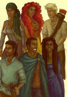 Fire, Brigan, Nash, Roen, Archer by Lady Graceling (by Kristin Cashore)