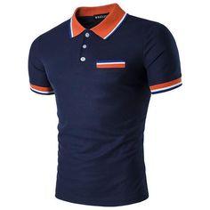 Men's Polo Shirts Summer Fashion Polo Shirts Casual Style T-Shirts T Shirt Polo, Tee Shirt Homme, Men's Polo, Sport Shirt Design, Camouflage T Shirts, New Mens Fashion, Camisa Polo, Style Casual, Estilo Retro