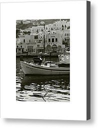 Mykonos Harbour II Photograph by Don Saunderson - Mykonos Harbour II Fine Art Prints and Posters for Sale