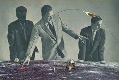 Sammy Slabbinck renders dynamic collage prints, combining vintage photographs with contemporary compositional styles. The images are cut up into pieces and redistributed, playing with exaggeration and proportions. Other times, the images are placed in a reverse context, juxtaposing modern ideals with traditional states of mind.